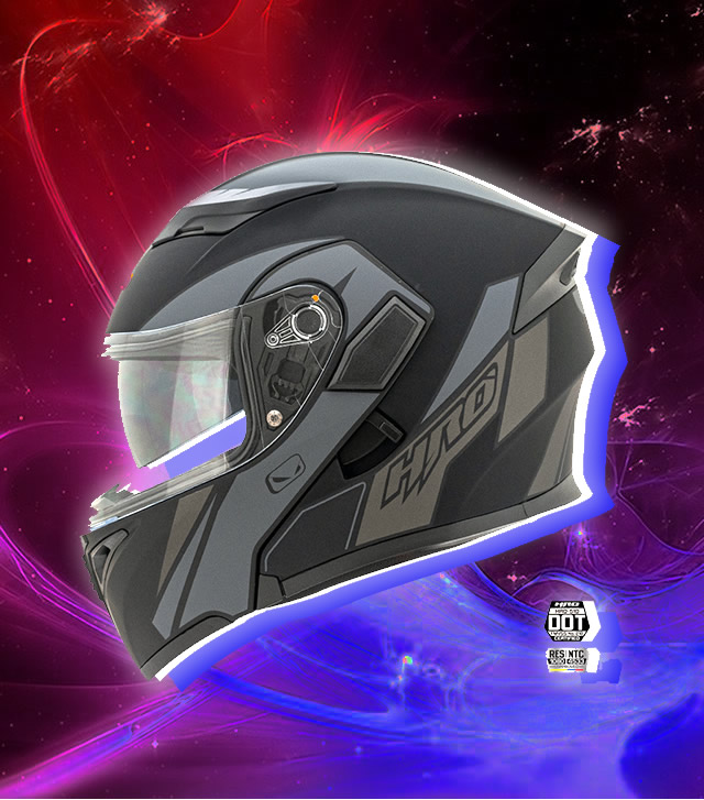 Casco de color negro HRO